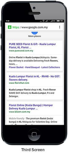 mobile organic listing
