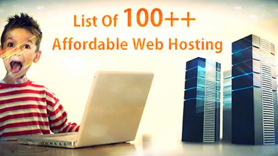 list of web hosting server
